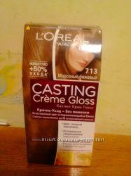 краска  loreal casting creme gloss 713 морозный бежевый
