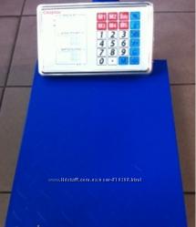 Весы Crystal 100 кг, торговые электронные складные, усиленная стойка