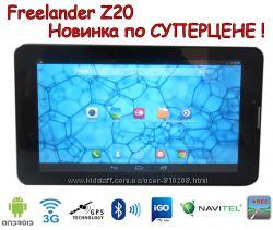 Планшет навигатор Freelander Z20 GPS, IPS, 2 ядра, 2sim3G Bt автокомплект