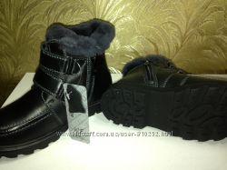 Новые зимние ботинки кожа, нат. мех р.33 -19см, р.35-20,5см, р.38 -22 см