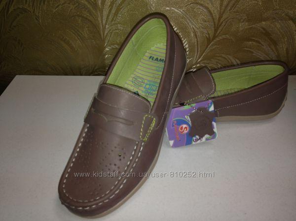 Новые кожаные туфли р.35 -23,1см, р.37-24,8см
