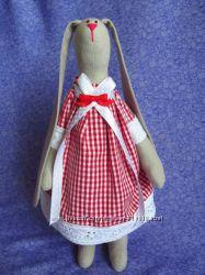 Игрушка заяц тильда ручная работа