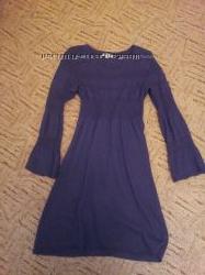 Платье теплое красивое VDP Sport фиолетово-сливового цвета