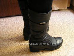 Продам зимние кожаные сапоги  36-й размер