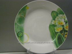 Тарелка обеденная мелкая d 20 см. в асортементе