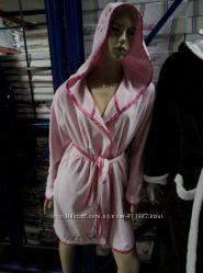 женский халат велюр-махра пр-во Турция
