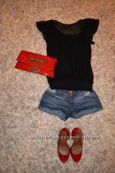 Легкая черная блузочка доя модниц Atmosphere как новая