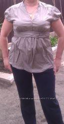 легкая, летняя хлопковая рубашечка для полненьких, можно беременым. х