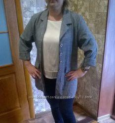 Летний удлиненый пиджак-рубашка
