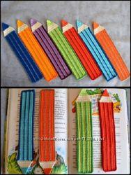 Закладка для книг Цветной карандаш, связанная крючком, цвет на выбор
