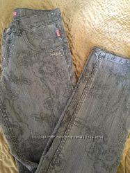 Джинсы жемчужно-серые Roberto Cavalli Angels,  джинсы Madness National