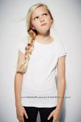 Белая футболока с рукавом буф  и поло 5, 6 лет от Next