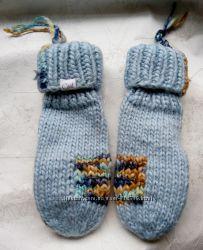 Варежки  рукавицы зимние модные Cool голубые