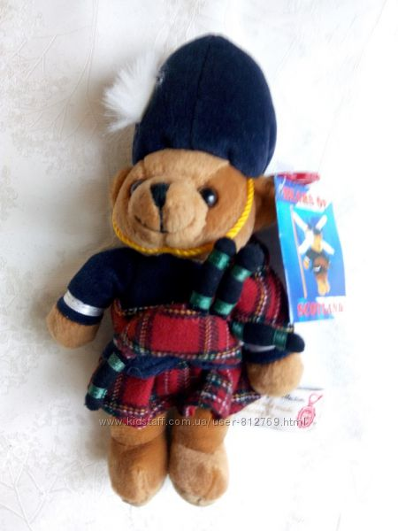 Игрушка новая Англия медвежонок Bear of Scotland Keel Toys Simply 24 с