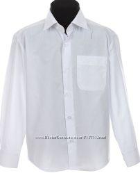 Акция Рубашка школьная на мальчика 116-170 см. Цену снижено