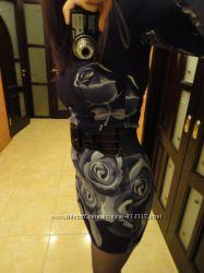 платье теплое мини размер s