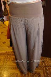 Летние широкие брюки шаравары для будущих мам и не только модный цвет