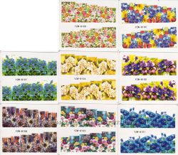 Наклейки на ногти водные Слайдер дизайны клетка звери цветы