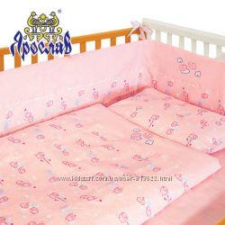 Детский комплект в кроватку защита плюс постель