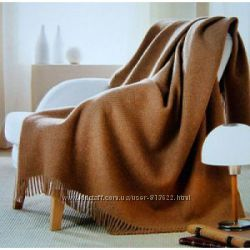 Плед из верблюжей шерсти очень теплый  на зиму и осень