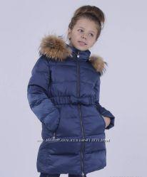 Пуховик для девочки, утеплитель пух белой утки от SNOWIMAGE 714, 140-164