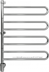 PAX 24-1026 Flex U Полотенцесушитель Электрический Поворотный 650x950 мм