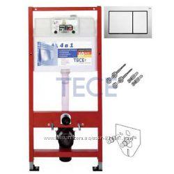 TECE 9. 400. 006 TECEbase kit Комплект 4в1 для Подвесного Унитаза
