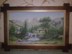 Картина вышитая, В ДОЛИНЕ 50Х31 см.