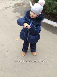 Шикарная зимняя польская шапочка со стразами 46-51см.