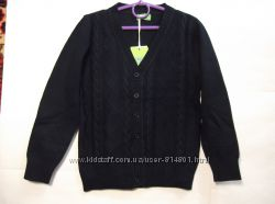 Богатый синий пуловер мыс на пугувицах MANY MANY р. 116-164