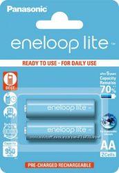 Пальчиковые аккумуляторы АА Panasonic Eneloop Lite 1000 mAh 2шт. в блистере