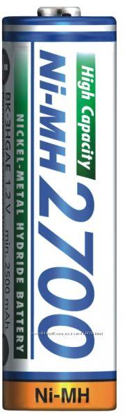 Пальчиковые аккумуляторы АА Panasonic 2700 mAh