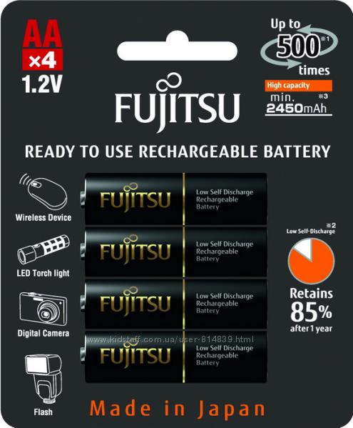 Пальчиковый аккумулятор АА Fujitsu 2550 mAh HR-3UTHC. Как Eneloop Pro
