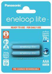 Аккумуляторы ААА Panasonic Eneloop Lite 2шт. в блистере