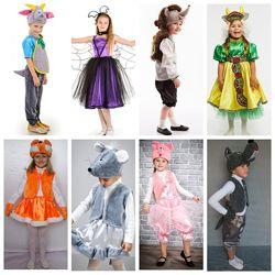 Платья нарядные, карнавальные костюмы, новогодние костюмы, маски, парики.