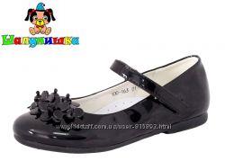 Черные туфли для девочки Шалунишка р 31-36