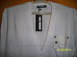 Стильная мужская кофта - кардиган  белая