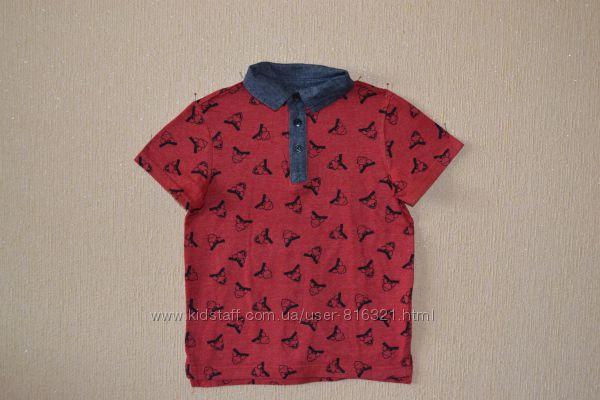 Стильная футболка-поло для юного модника