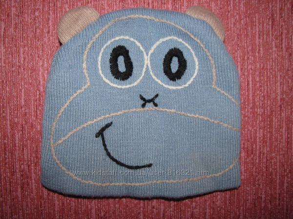Демисезонная вязанная шапка для мальчика