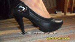 туфли на каблуке, кожзам