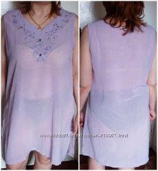 Красивое летнее платье - туника. Состояние нового.