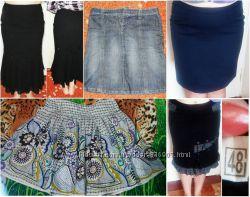 Женские юбки на лето, осень и зиму. Состояние идеальное.  Размер 46-48.