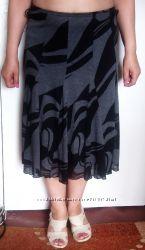 Женская юбка на прохладную погоду. Миди. Отличное состояние.