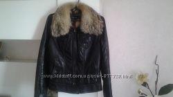 Куртка кожаная на синтепоне Mazzarini Италия р. S-M