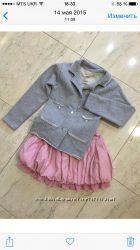 Пиджак с серебристым напылением и бриджи  оркестра рост116