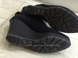 На цигейке замшевые ботинки Norma J. Baker 38 размер