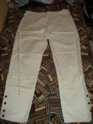 Летние фирменные белые брюки для беременных р. 12наш 46 и р. 16наш 48-50