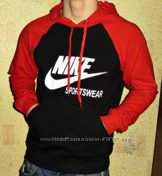 Капюшонка худи Nike серая, комбинированная . Весна- лето.
