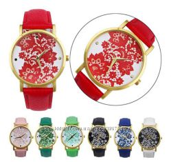 Женские часы с узором кружевом Geneva lace