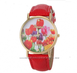 Часы Geneva цветы